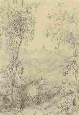 Lady Elizabeth Percy - Tuscan landscape,...