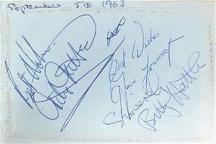 1960's autograph album with various auto...