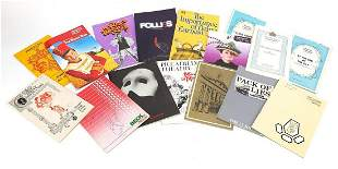 Collection of vintage signed theatre pro...