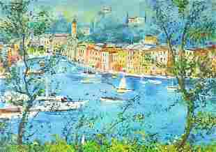 Manner of Raoul Dufy - Continental harbo...