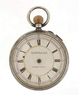 W E Watts & Co, gentlemen's silver open ...