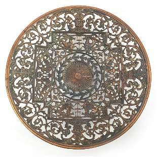 Coalbrookdale cast iron plate pierced wi...