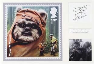 Star Wars interest Warwick Davis signed ...
