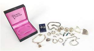 Silver jewellery including Simply Charms...