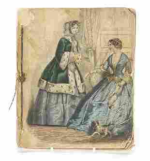 19th century lithographic book with cost...