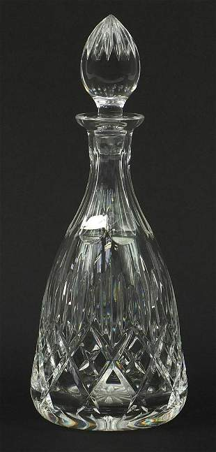 Good quality cut crystal decanter with s...