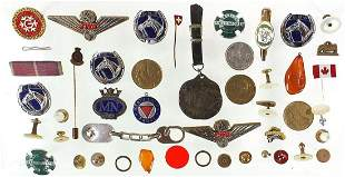 Badges, pips and medallions including st...