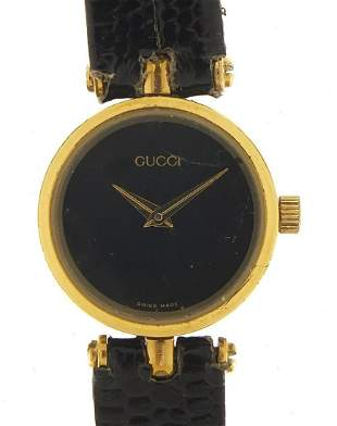 Gucci, ladies gold plated and enamel qua...