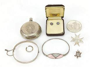 Silver jewellery including J Philips ful...