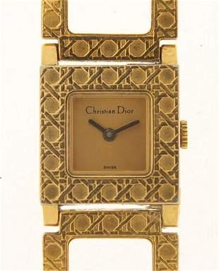 Christian Dior, ladies gold plated wrist...