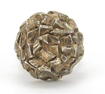 Danish silver ring, size N, 15.3g