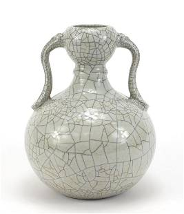 Chinese porcelain Ge ware vase with hand...