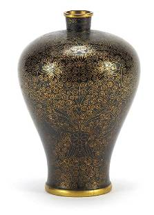 Chinese cloisonne meiping vase enamelled...