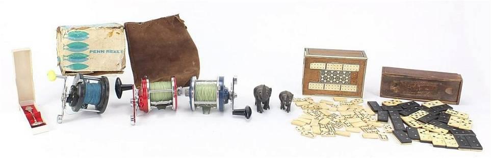 Sundry items including bone and ebony do...