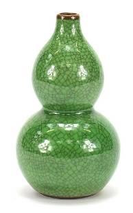 Chinese porcelain crackle glazed double ...