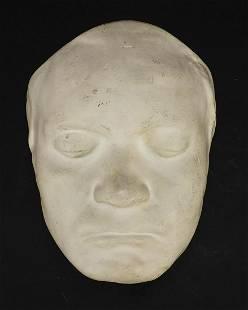 Plaster death mask of Beethoven, 22cm hi...