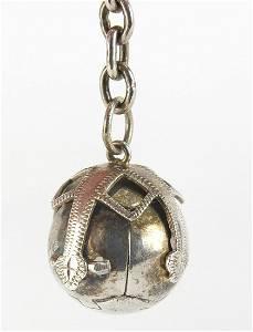 Silver folding masonic ball keyring, Lon...