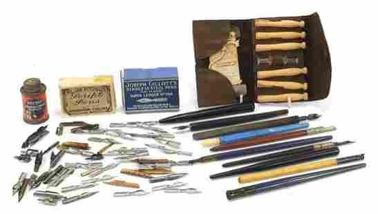 Early 20th century writing equipment inc...
