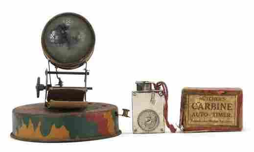 Vintage military interest tinplate searc...