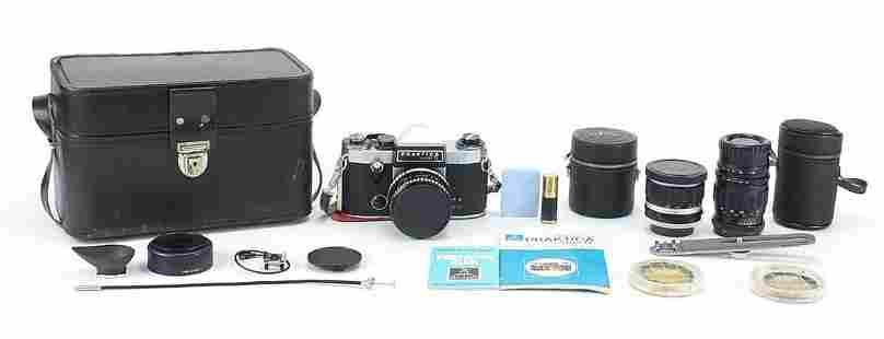 Praktica Super TL camera with lenses, ac...