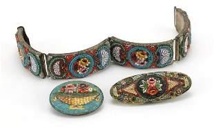Vintage micro mosaic jewellery comprisin...