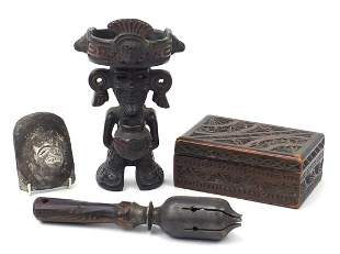 African and Asian items including a Peru...