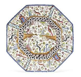 Large Portuguese octagonal charger hand ...