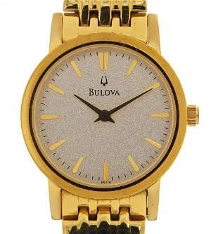 Bulova ladies quartz wristwatch with box