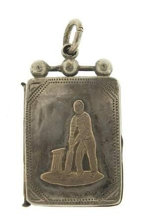Cricket interest Victorian silver locket...