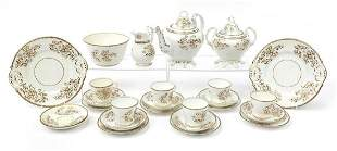 Victorian cream and gilt floral teaware ...