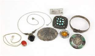 Silver and white metal jewellery includi...