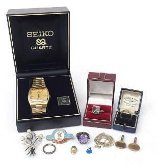 Gentlemen's Seiko quartz 400M wristwatch...