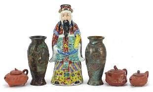Chinese ceramics and metalware comprisin...