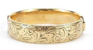 Victorian design 9ct gold metal core hin...