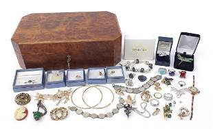 Vintage and later costume jewellery, som...