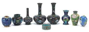 Chinese cloisonne including pair of vase...