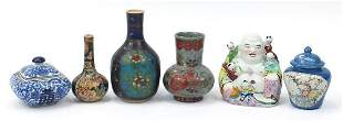 Chinese ceramics including a figure of B...