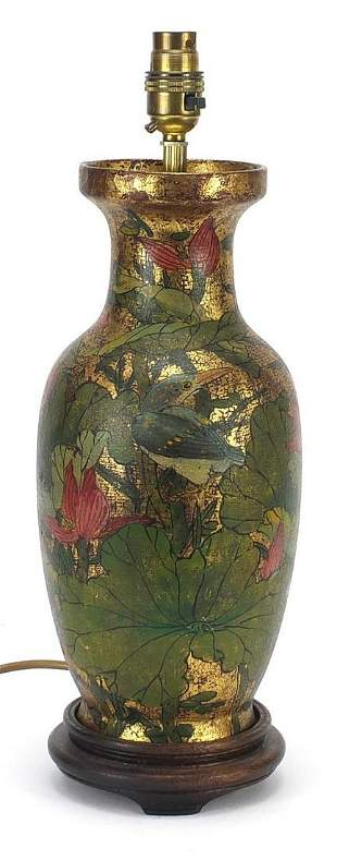 Chinese porcelain baluster vase table la...