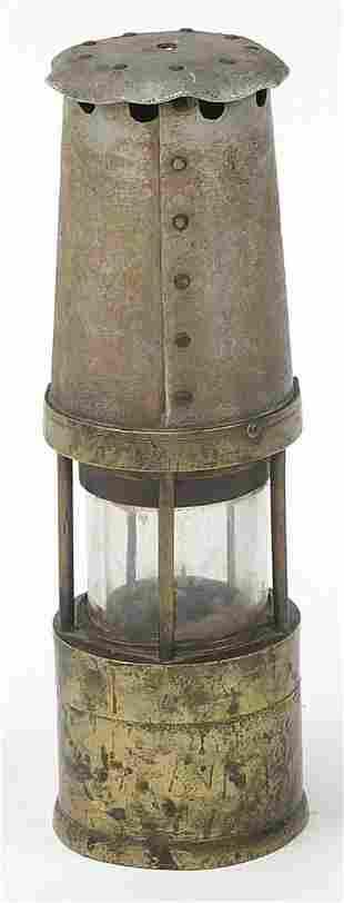 Vintage Naylor miner's lamp numbered 691...