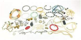 Vintage and later jewellery including si...
