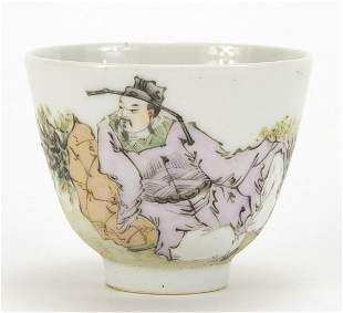 Chinese porcelain tea cup hand painted w...