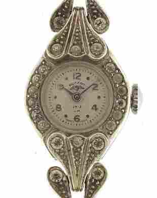Rotary, ladies silver coloured wristwatc...