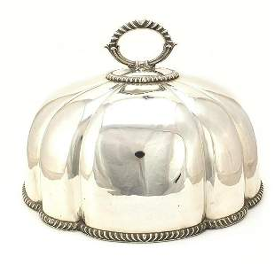 Large Victorian silver plated meat dome ...