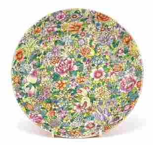 Chinese porcelain dish hand painted in t...