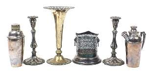Silver plated items including two Art De...