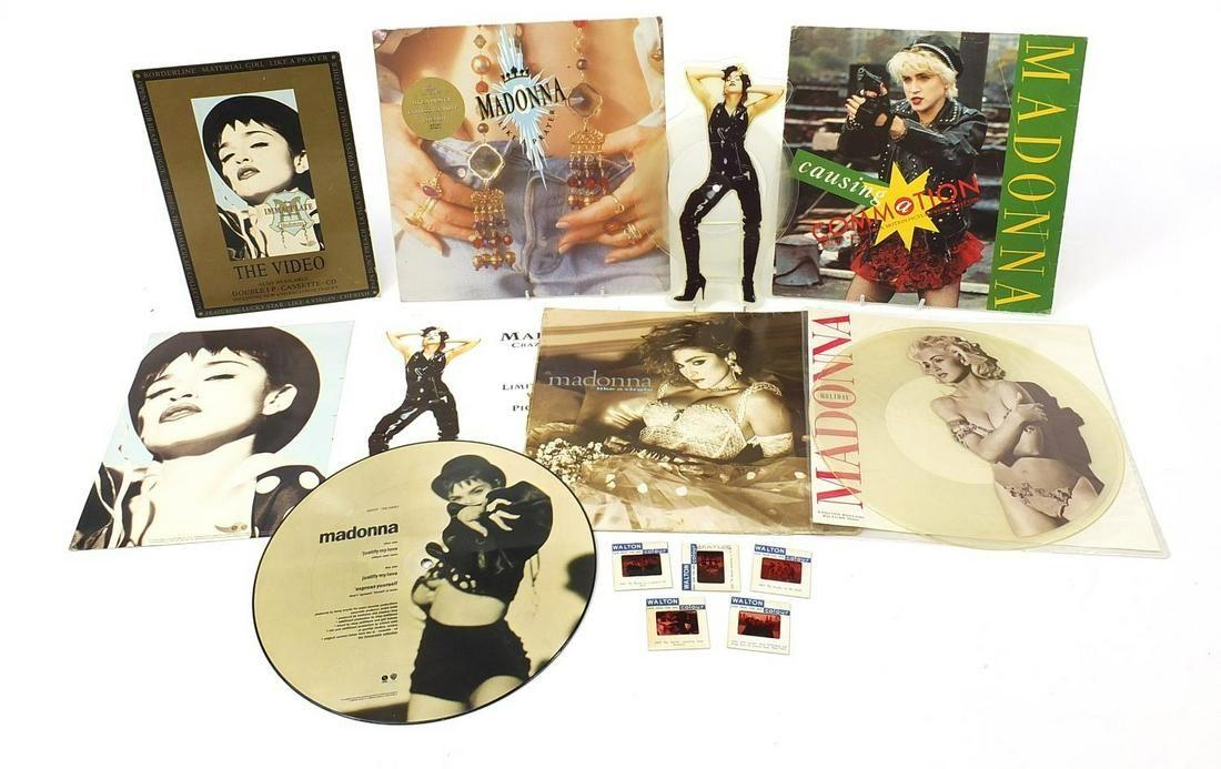 Madonna picture discs and vinyl LP's tog...