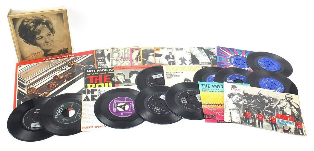 Vinyl LP's and 45rpm records including T...