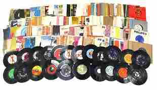 45rpm records including Elvis Presley, J...