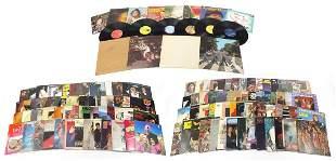 Vinyl LP records including The Beatles W...