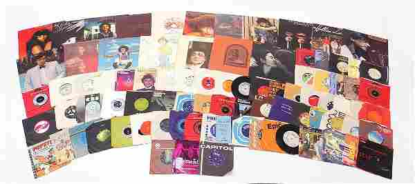 Vinyl LP's and 45 rpm records including ...